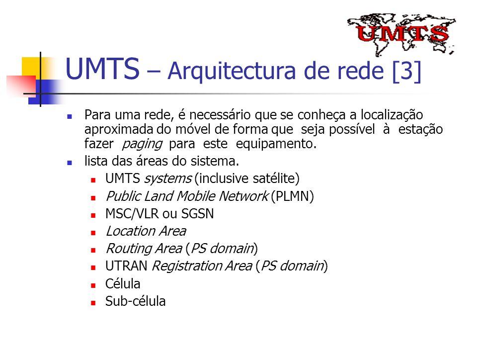 UMTS – Arquitectura de rede [3]